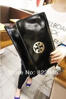 High quality genuine oil wax leather female fashion day clutch evening bag elegant envelope bag European American trend