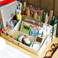 Cosmetics diy paper 9 desktop paper storage box sundries storage cosmetics finishing box