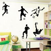 5 Football Footballers sport wall art  vinyl  boys bedroom wall decal kids wall sticker home decor