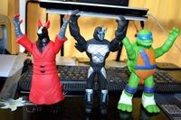 9pcs/set Classics anime Teenage mutant ninja turtles party supplies action figure toys