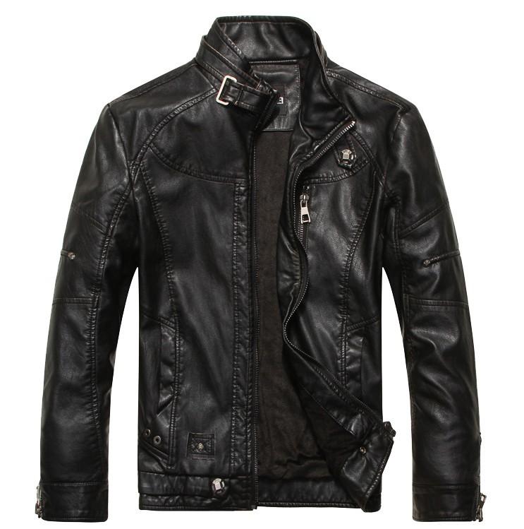 Spring 2014 new men's leather jacket men leather jaqueta couro masculino bomber biker leather jackets for men skin jacket coat(China (Mainland))
