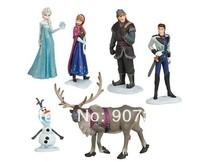 Frozen Anna Elsa Hans Kristoff Sven Olaf PVC Action Figures Toys Classic Toys 6pcs/set Top Quality DHL 120pcs/lot