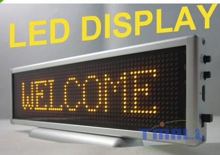 Yellow Program LED Message Sign Scroll Display 16x64(China (Mainland))