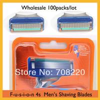 (100packs) 400pcs/lot Men's Brand Shaving Blades Free Shipping