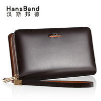 2014 New Arrival Men's High Quality Cowhide Casual Day Clutch Wallet Handbag Men For Cards Money and IPhone