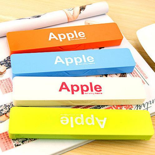 Min order $ 10 Free shipping 2014 fashion student stationery box office supplies cute candy colored pencil box tin box(China (Mainland))