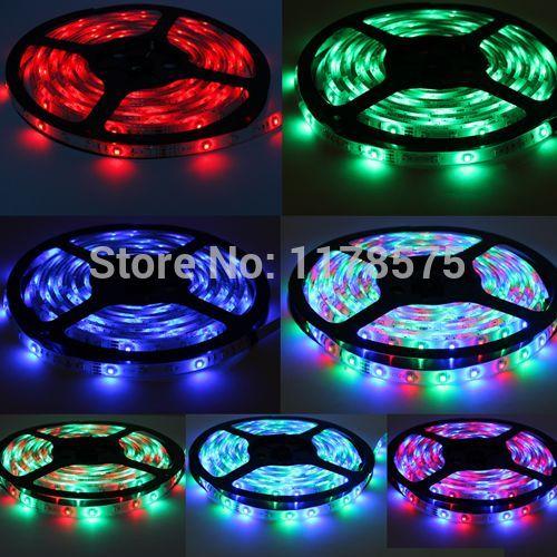 Free Shipping 5M 12V 300 LED 3528 SMD RGB Waterproof LED Light Strip Lamp Ribbon Tape Roll---LD03917(China (Mainland))