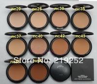 10pcs/Lot wholesale cheap Brand Makeup studio fix plus powder foundation + puff 15g 10 different color dropship free shipping