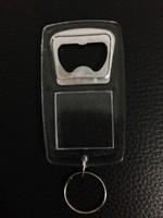 Acrylic bottle opener keychain