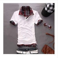 Free shipping top sale of 2014 new style men's t-shirt slim and comfort summer short sleeve polo brand t-shirt fashion t-shirt