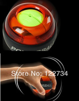 with color box, New PowerBall Gyroscope LED Wrist Strengthener Ball / Arm Exercise Power Ball Free shipping, CE certi