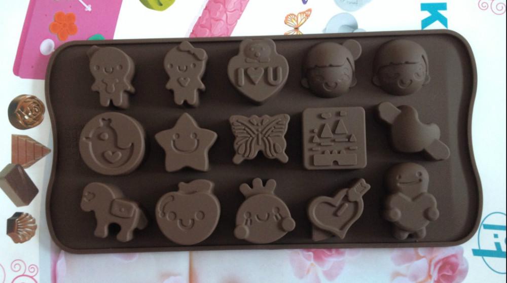 Estrelas cavalo de tróia forma Jelly Sweet Candy Muffin fondant de chocolate bolo Mold ferramenta Silicone molde Ice Baking Pan DIY L073(China (Mainland))