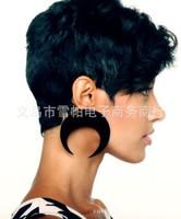 2014 New European Women's Popular Light Big Moon Earrings Jewelry Female Exaggerated Acrylic Black/White/Gold Moon Drop Earrings