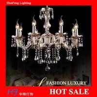 Crystal chandelier 8 lights lamps COGNAC chandeliers lamps crystal chandelier led lustre lamp led lamp