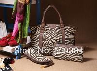 High Quality Brand Women Shoulder Bag (30*10*32), Messenger Bag (26*4*14), Makeup Bag(8*7*22), 3Bags In 1Set, PU,  YKK Zipper