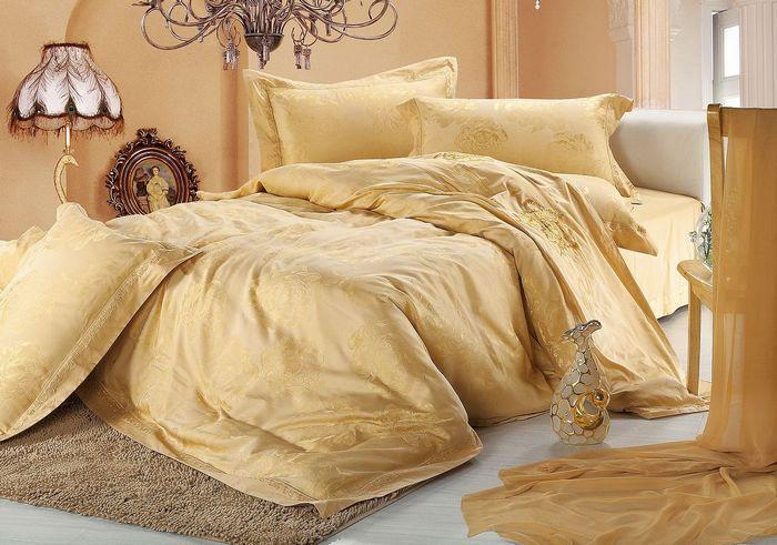 Luxury wedding bedding bedclothes font b gold b font font b duvet b font font b
