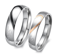 Fashion Jewelry 316L Stainless Steel Ring Men Women Lovers Ring Engagement Wedding SR101