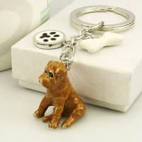 Free shipping 629182 sand leather dog, China - Chinese Shar Pei/dog super simulation pet dog key chain Christmas