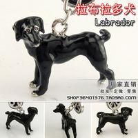 Free shipping Labradors Labrador - 629198 / pet dog dog boutique super simulation key chain Christmas