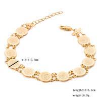Free Shipping Rihanna Inspired Trendy Gold Medallion Chunky Stretch Bangle Bracelet for women charm jewelry