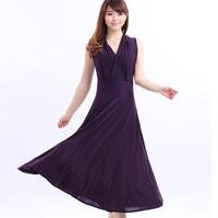 2014 Summer Women's V-Neck Milk Silk Dress Plus Size Long Dress Beach Dress 21 Colors