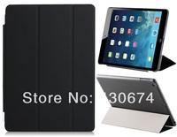 AaBbDd Faux Leather & Plastic Tri-fold Flip Case for iPad Air (Three color)