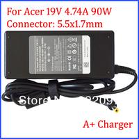 New Top Quality 19V 4.74A 90W Charger for Acer Aspire 5710G 5710ZG 5715Z 5720 5720G 5720Z 5735 5735Z 5738 5738G 5738Z 5738ZG