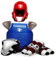 Hot Sale  Adult child thickening taekwondo flanchard five pieces set flanchard protective bag