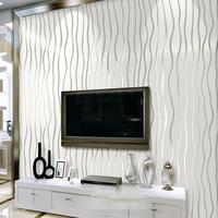 PVC Stripe Wallpaper TV Living Room Background Vinyl Wall Paper Home Decor White papel de parede Roll