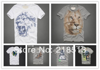 Animal Fitching Tiger Free shipping Men Shirt Sandy Beach Indiana Elder Crop top for men Summer Tops Board