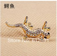 NEW gecko ear clips 2014 crystal non pierced ear clip charms ear cuffs fashion earrings jewelry wholesale LM-C305