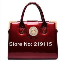 Spring light leather handbag shoulder bag bag diagonal package bag diamond bag messenger bags Free Shipping