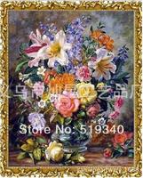 2014 new Needlework Beautiful embroider diy diamond painting - vase cross stitch - diamond mural decoration diamond painting