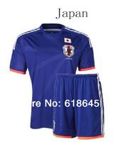 Soccer jersey Japan 2014 world cup  top quality Japan Football shirt blue home team