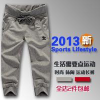 Summer women's 100% cotton sports capris casual sports shorts women's casual yoga capris running pants