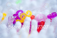Free Shipping Rainbow-Loom Rubber Bands Fittings Plastic Multicolor Colorful Clips C-clip/S-clip 240pcs