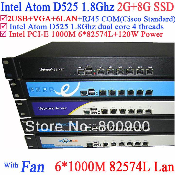 Firewall и VPN 1U 6 * Intel 1000M 82574L RJ45 120W ROS Mikrotik . . 2G 8G SSD D525-6LAN partaker 1u firewall server security firewall d525 with intel pci e 1000m 4 82583v 2gb ram 32gb ssd pfsense router