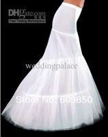 2014 Free Shipping Hot Sale 3 Hoops Little Fishtail Mermaid Wedding Dresses White Petticoat Bridal Wedding Petticoats