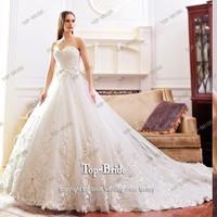 S21481 Real Work Top Bride Crystal Applique For Wedding Dresses