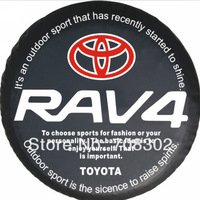 """Free shipping Toyota Car modified PU spare tire cover custom off-road 14 """"15"""" 16 """"17"""" PVC spare wheel cover for RAV4"""