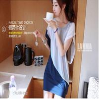 women's basic shirt slim plus size chiffon short-sleeve dress Elegant Woman Dress -Free Shipping