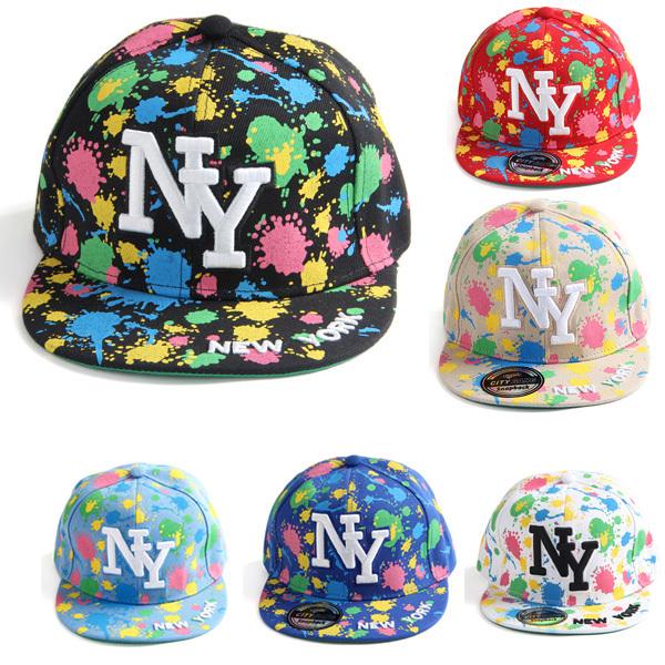 2014 Cool Ink Splatter New York Snapback Baseball Cap Unisex Style Adjustable Hip Hop Cap Sun Hat NY Cap Free Shipping(China (Mainland))