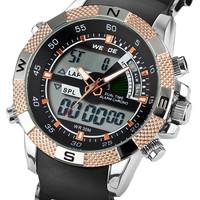 WEIDE Men Sports Watches LED Diaplay Alarm Multi-functional Military Watches Luxury Brand Watch Waterproof Men Full Steel watch