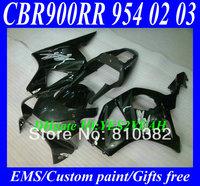 CUSTOM Motorcycle Fairing kit for HONDA CBR900RR 02 03 CBR900 954 CBR900RR 2002 2003 Fashion silver black ABS Fairings set HP28