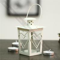 Romantic Love Iron Wedding Decor Candle Holder Warm Retro Glass Home Decor Candle Holders