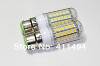 2pcs/lot  B22 69LEDs SMD 5050 15W LED corn bulb lamp Warm white white 5050SMD led lighting 220V 230V 240V