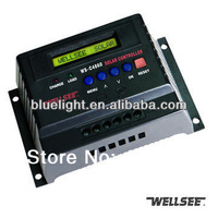 WS-C4860 60A 48v solar controller Wellsee  LCD display  charge regulator