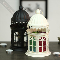 High Quality Birthday Decor Candle Europe Iron Glass Home Decor Candle Holders