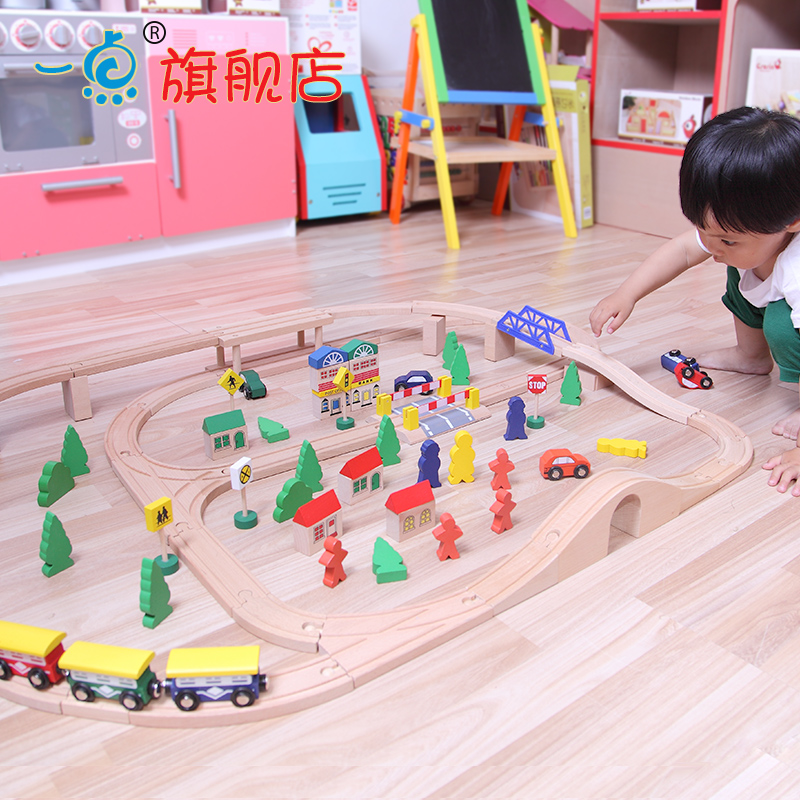 Wool wooden thomas set model 4 - 5-6-10 child baby educational toys(China (Mainland))