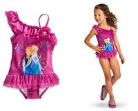 Hot sell 2014 frozen girls swimwear bikini children  swimwear girls swimsuit fashion swimwear &swimwear for girl Free shipping